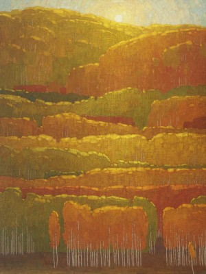 David Grossmann, Morning Autumn Sun Near Kebler Pass