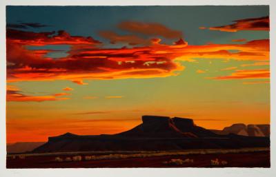 Ed Mell, Red Desert Sunset, #24/200, 2017