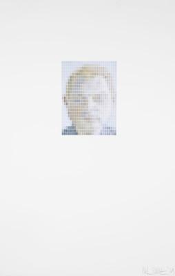 Nick Smith, Lucian Freud - Francis Bacon Portrait (Microchip), 2019