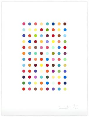 Damien Hirst, Xylene Cyanol Dye Solution, 2005