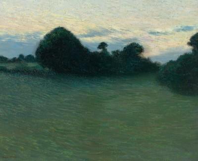 Henri Martin (1860-1943)Paysage, crépuscule, c. 1901