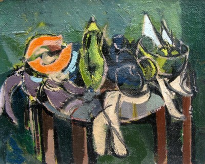 Kenneth Lauder (1916-2004)Still Life with Melon and Fruit, 1951