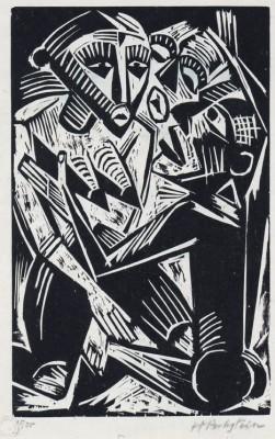 Max Pechstein (1881-1951)Woman Desired by Man (Weib vom Manne begehrt), 1919