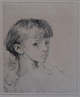 Sir George Clausen (1852-1944)Little Meg, 1892