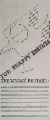 Edward McKnight Kauffer (1890-1954)Design for BP Poster, 1934