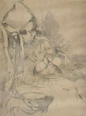 Beatrice How (1867-1932)Nounou et Bébé , c. 1915