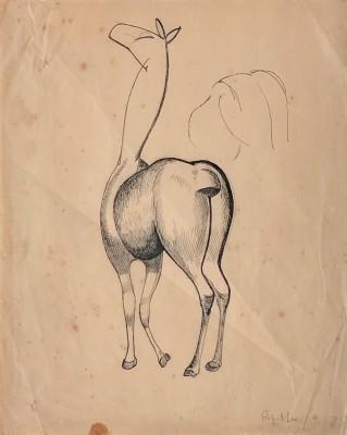 Rupert Lee (1887-1959)Cubist Horse Study, 1920