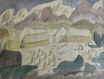 Doris Hatt (1890-1969)Study for 'The Cornfield', 1957