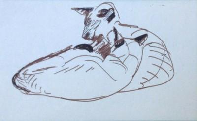 Enid Marx (1908-1999)Study of Siamese Cats, c. 1950