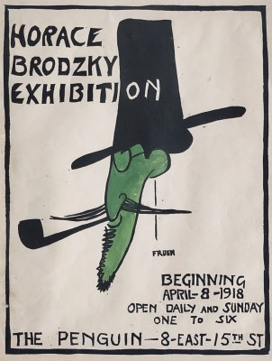 Alfred J. Frueh (1880-1968)Horace Brodzky Penguin Club Poster, 1918