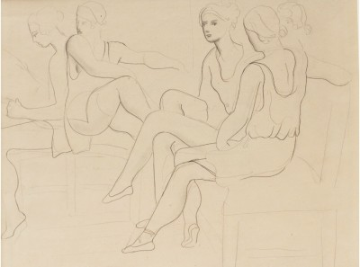 Christopher Wood (1901-1930)Study of Dancers (Romeo and Juliet) II, 1925