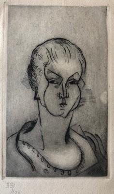 Jean Metzinger (1883-1956)Buste de femme, 1911