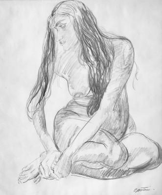Jacob Epstein (1880-1959)Study of Sunita, c. 1930s
