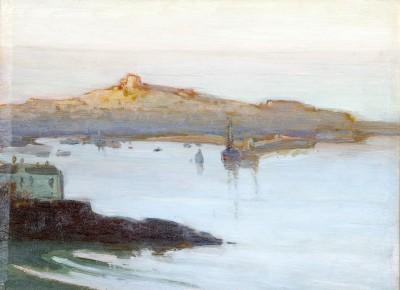 Frederick Milner (1855-1939)Afterglow, St. Ives Harbour, c. 1910