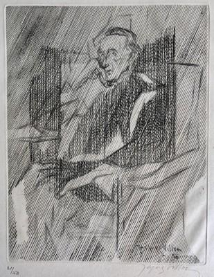 Jacques Villon (1875-1963)Portrait of Marcel Duchamp, 1956