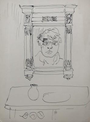 Glyn Morgan (1926-2015)Self Portrait, 1951