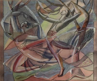 Doris Hatt (1890-1969)Study for Spanish Dancers at the Old Vic, 1951