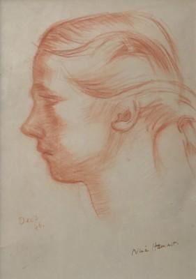 Nina Hamnett (1890-1956)Study of a Girl in Profile, 1946