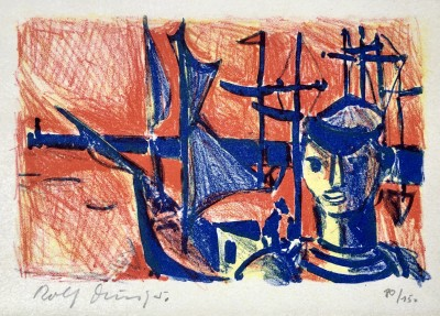 Rolf Durig (1926-1985)Sailor and Harbour, 1950