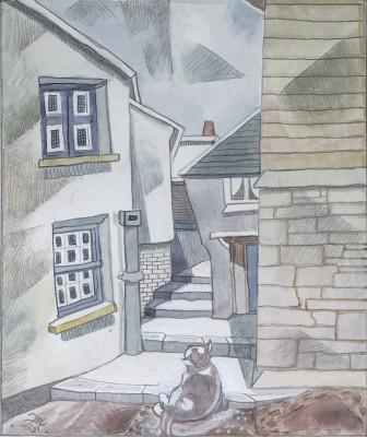 Doris Hatt (1890-1969)A Cornish Street Corner, 1969