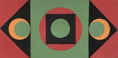 Lucienne Olivieri (1910-2007)Triptych Composition, 1970