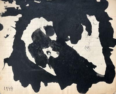 René Audebes (1922-1993)Abstrait lyrique III, 1944