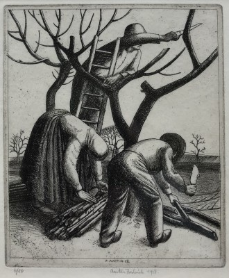 Frederick Austin (1902-1990)Pruning Trees, 1928