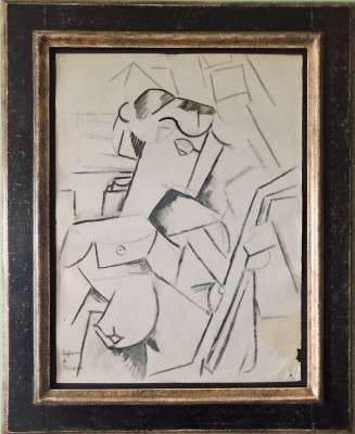 Marie Marevna (1892-1984)Girl with Mandolin (after Picasso), c. 1912-14