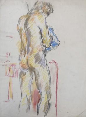 Glyn Morgan (1926-2015)Male Nude, Benton End, 1948