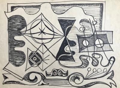 John Banting (1902-1972)Study for Impending Strife, c. 1948