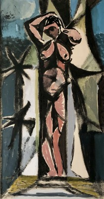 Kenneth Lauder (1916-2004)Standing Nude, 1955