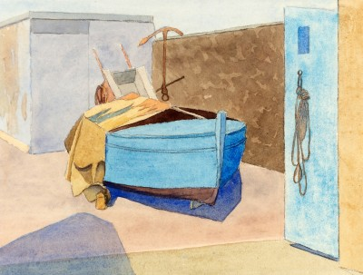 Malcolm Arbuthnot (1897-1967)Boatyard, Jersey, 1930s
