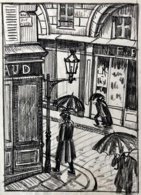 Ethelbert White (1891-1972)A Paris Street, 1912