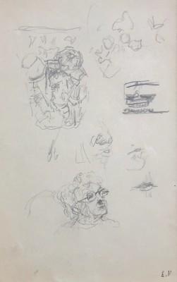 Edouard Vuillard (1868-1940)Study for 'Le Telegramme' (Lucie Hessel), c. 1933