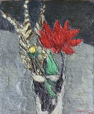 Bryan Senior (b. 1935)Flower Piece with Red Dahlia, 1960