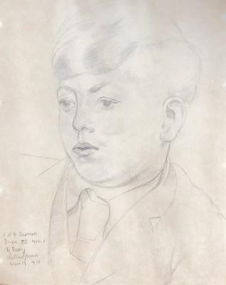 Gilbert Spencer (1892-1979)Portrait of John Wadsworth (Radley College), 1951