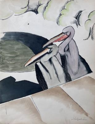 Rupert Lee (1887-1959)Two Pelicans, 1919