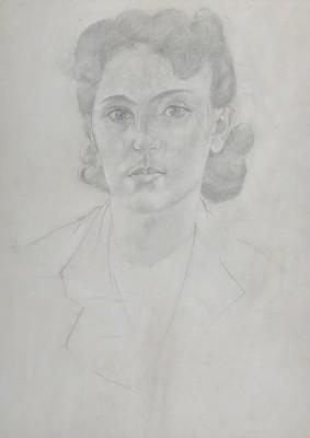 Stanley Spencer (1891-1959)Portrait of the Artist's Daughter, Unity Spencer, c. 1940
