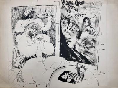 Glyn Morgan (1926-2015)Studio Interior, 1957