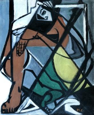 Marceau Constantin (1918-2017)Cubist Figure, 1950