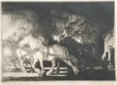 Edmund Blampied (1886-1966)A Street by Night, 1926
