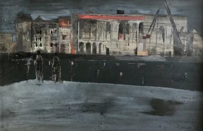 Wyn Casbolt (1914-1963)Evening, Docklands, 1952