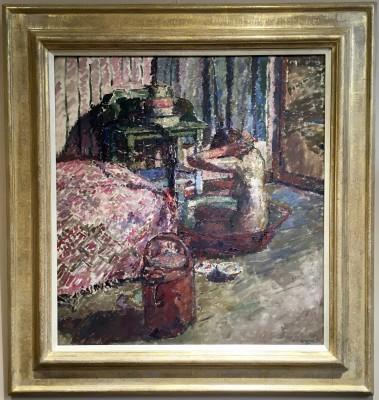 Maud Mathers (1890-1921)Interior with Nude Washing, 1914