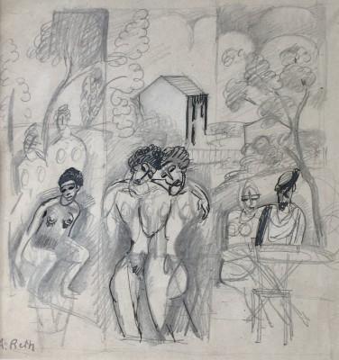 Alfred Reth (1884-1966)Figure Composition, 1910-12