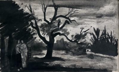 William Scott (1913-1989)Wooded Landscape, 1945