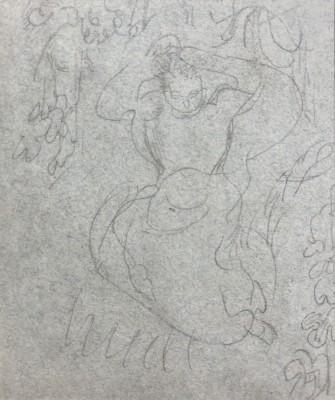 Maurice Denis (1870-1943)Study for Femmes dans les vignes or Femme arrangeant ses cheveux, c. 1892