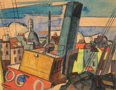 Anne Estelle Rice (1879-1959)The Blue Funnel, 1920
