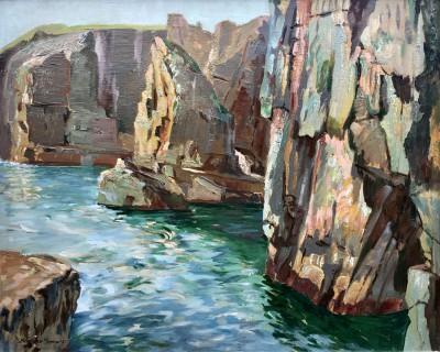 Robert Borlase Smart (1881-1947)The Rocky Cornish Coast, c. 1920