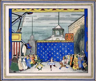 Ethelbert White (1891-1972)A Scene from Fokine's Petrushka (Ballets Russes), c. 1919