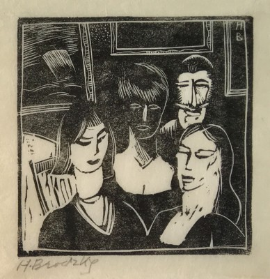 Horace Brodzky (1885-1969)Studio Interior with Self Portrait, 1921